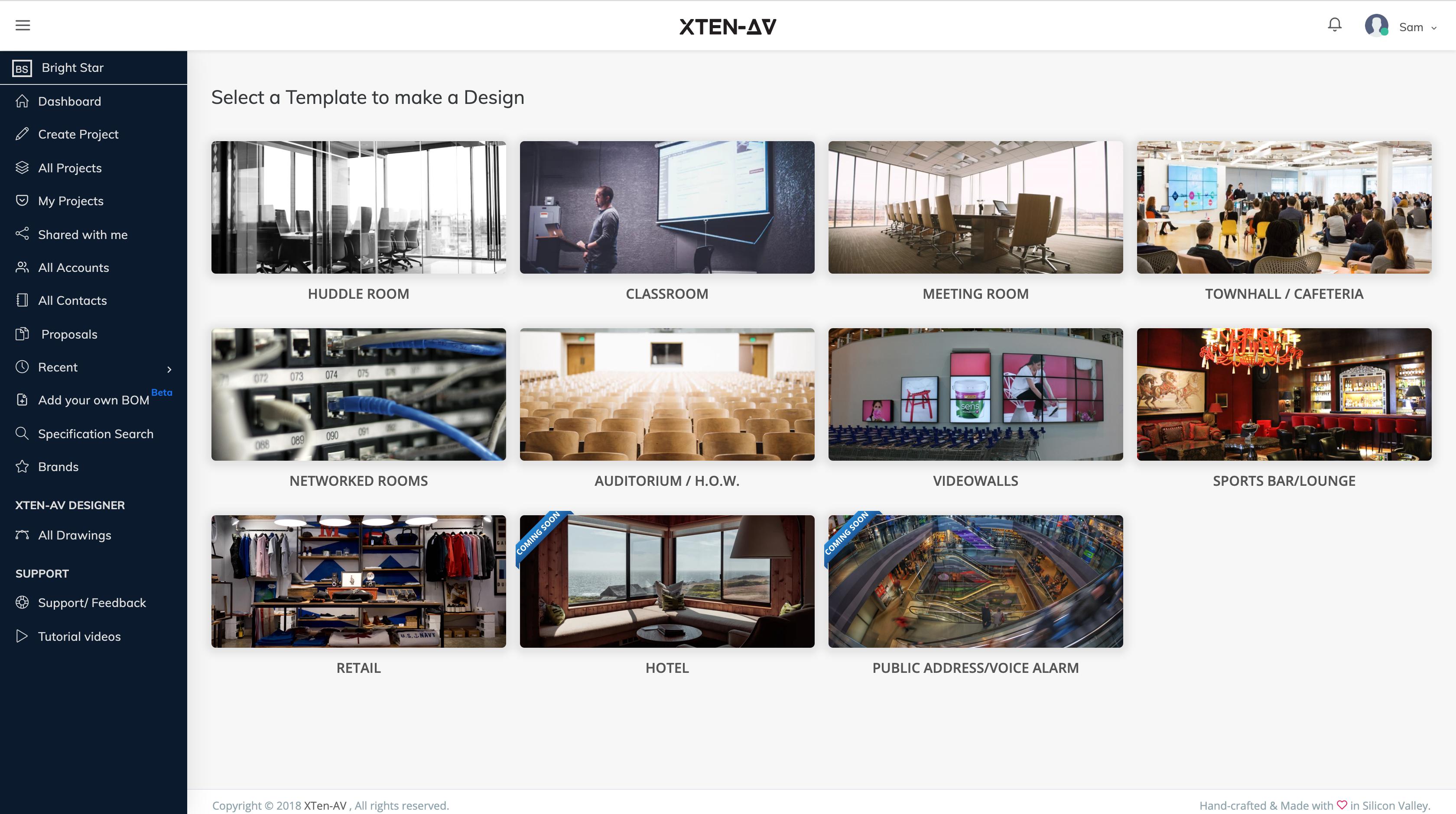 Select design template